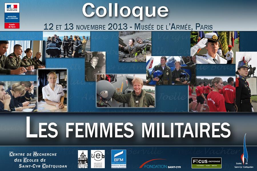 """Colloque """" Les femmes militaires """" – 12 et 13 novembre 2013 à Paris"""